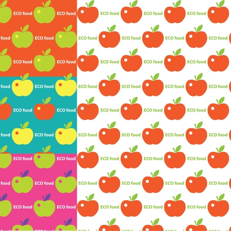 Seamless cute bright colorful apple pattern Stock Vector - 16844157