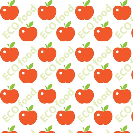 Seamless cute bright colorful apple pattern Stock Vector - 16844038