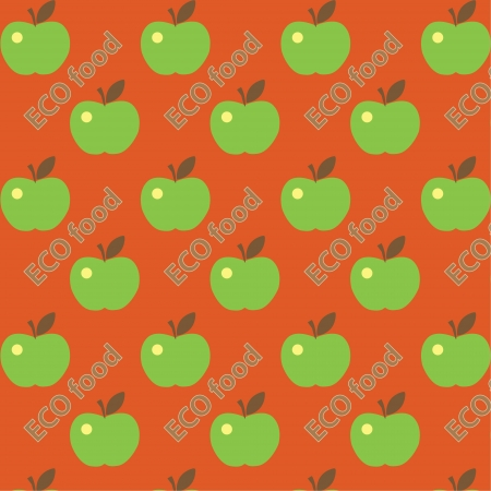 Seamless cute bright colorful apple pattern Stock Vector - 16844154