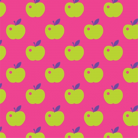 Seamless cute bright colorful apple pattern  Vector