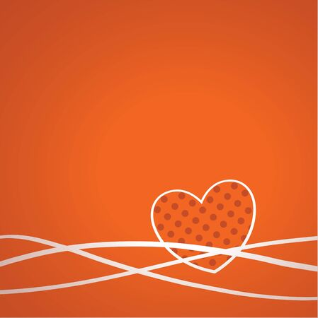 Abstract hearts greeting Card  illustration  Vector