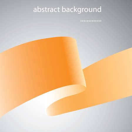 Abstract background with orange ribbon art Stock Vector - 16844007
