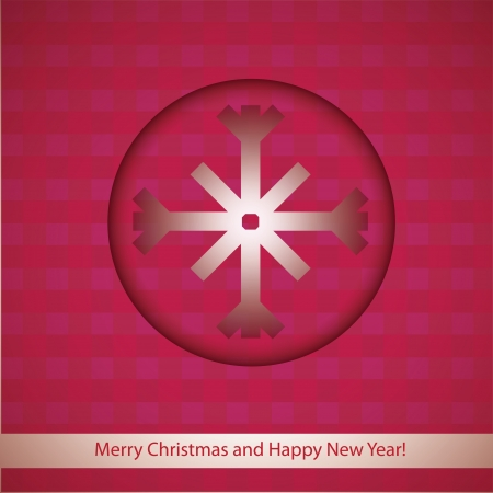 Christmas ball and star on red background  Vector illustration for design  Vector