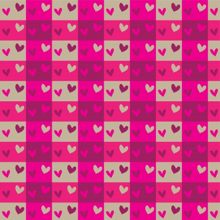 Seamless pattern with valentine hearts, sketch drawing for design