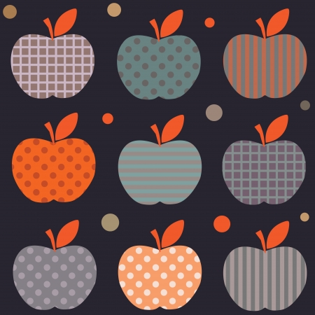 Seamless element  Cute bright colorful apple pattern in vector Stock Vector - 17224267