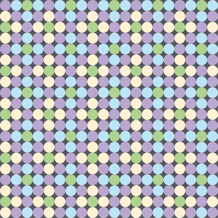 Seamless pattern, polka dot fabric, wallpaper  Vector art Vector