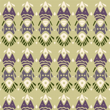 etno: Abstract pattern in ethnic style  Vector art