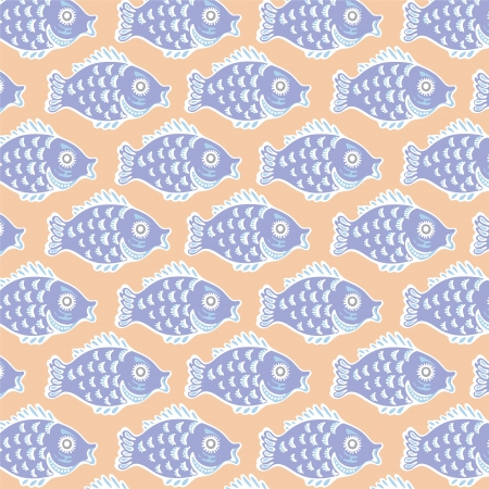 Seamless graphic pattern with fish Stock Vector - 17224308