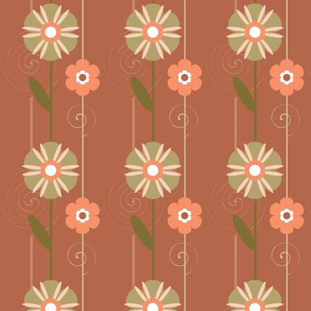Seamless texture with floral elements  Vector art Stock Vector - 17224241