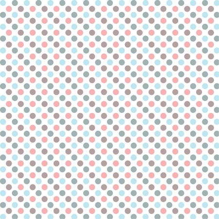 worn paper: Aged and worn paper with polka dots  Vector art Illustration