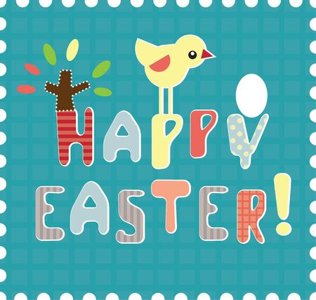 upscale: Playful Vector Lettering  Happy Easter