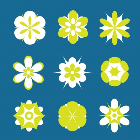 Set of flowers in different shapes, color  Vector art Stock Vector - 17224224