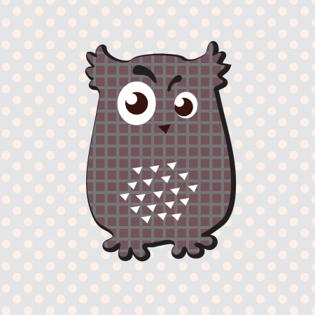 Decorative owl with interesting look  Vector art Vector