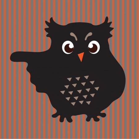 Decorative owl, wing shows the direction  Vector art Vector