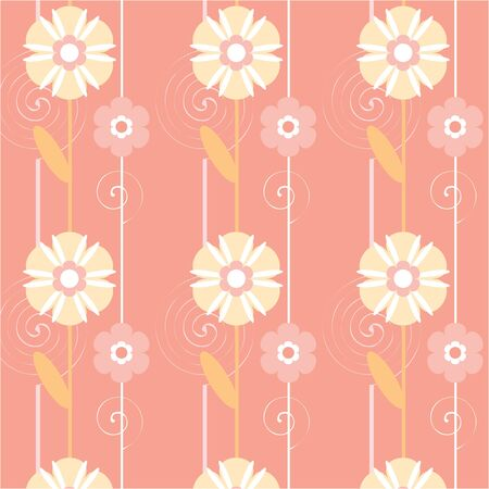 Seamless texture with floral elements  Vector art Stock Vector - 17224240