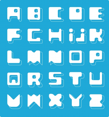 Decorative Alphabet  Square at the base Stock Vector - 17224260