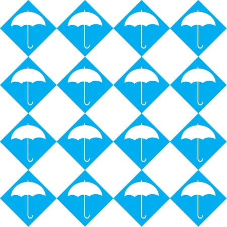 Umbrella seamless pattern Vector