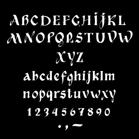 Alphabet design retro style, back to school style./ Latin alphabet Stock Vector - 17224257