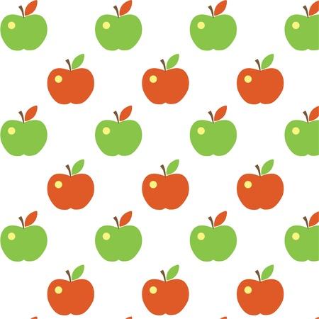 Seamless cute apple pattern Illustration