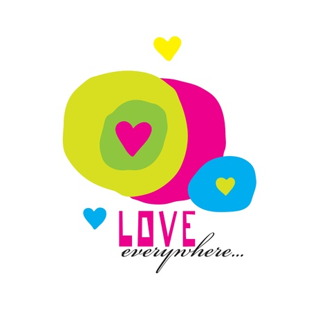 Colored heart background  Greeting Card art Stock Vector - 17988303