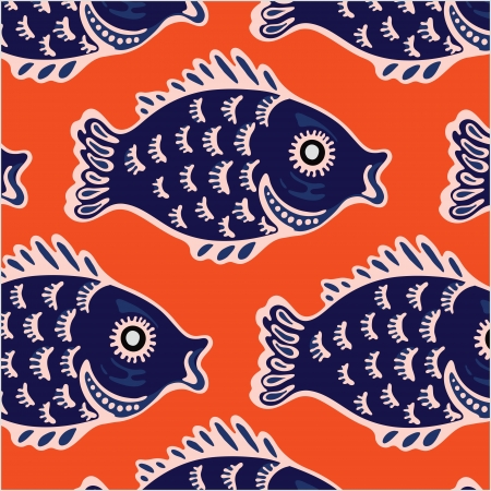Seamless texture of the image sets of fish Stock Vector - 17987942