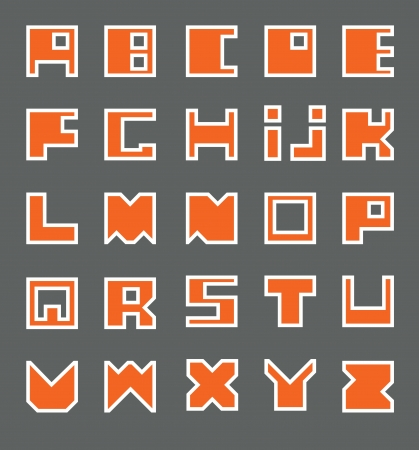 Latin Alphabet  Square at the base Stock Vector - 17988294