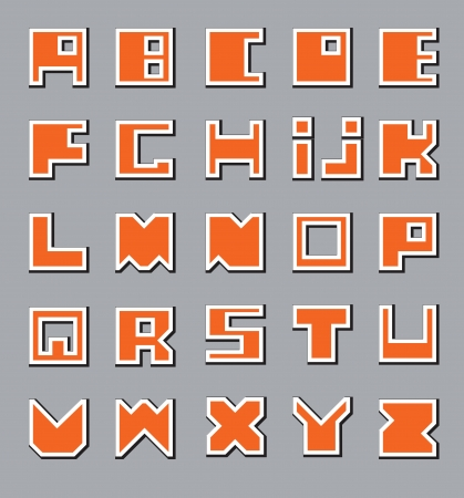 Latin Alphabet  Square at the base Vector