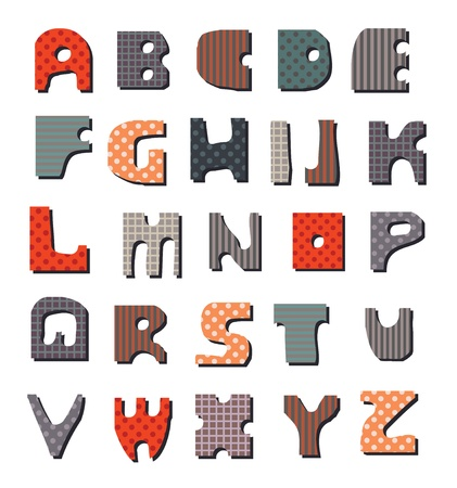 Latin Alphabet  Seamless saved Stock Vector - 17987932