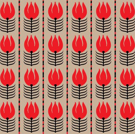 Seamless abstract flower pattern  Vector art