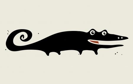 Happy lizard  Vector card Vector