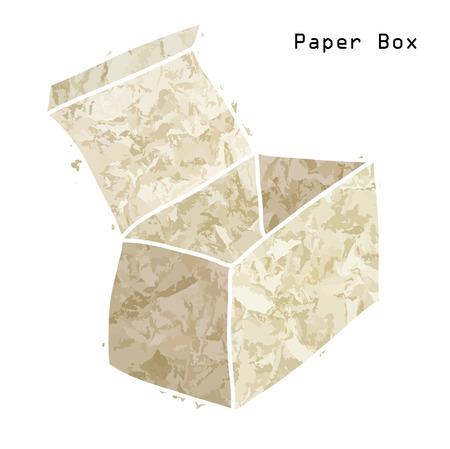 Old paper empty box  Vector art