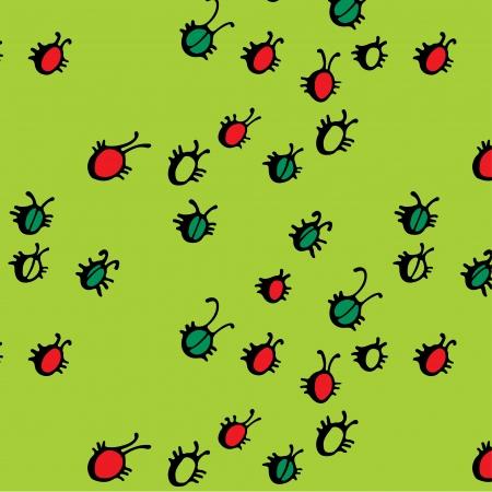 Beetle pattern Vector