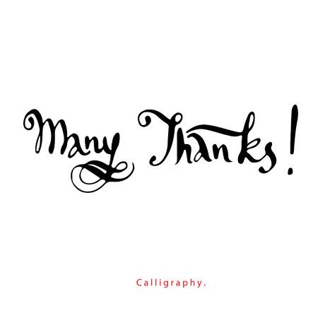 many thanks: Many Thanks  Calligraphy