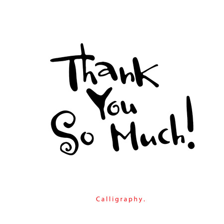 Greeting Card  Thank you so much  Illustration