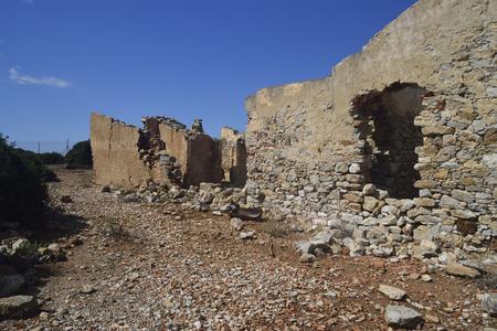 Abandoned mining village of Planu Sartu Stock Photo