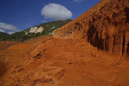Landfill of red mud of Monteponi mine Zdjęcie Seryjne