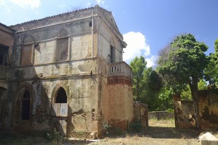 Abandoned mining village Asproni Stok Fotoğraf