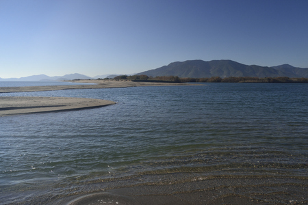 Flumendosa river near Porto Corallo beach
