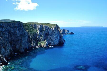 The coast of Porto Sciusciau Stok Fotoğraf