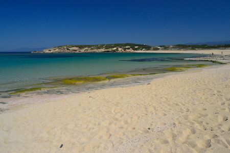 Beach of Sa Mesa Longa Imagens