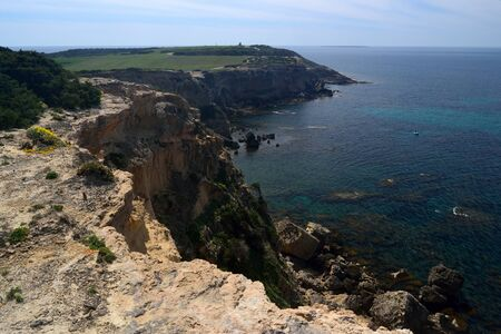 Coast of Capo Mannu Imagens