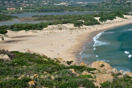 View of Su Giudeu beach