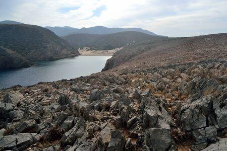 View of Cala Domestica beach 스톡 콘텐츠 - 133166038