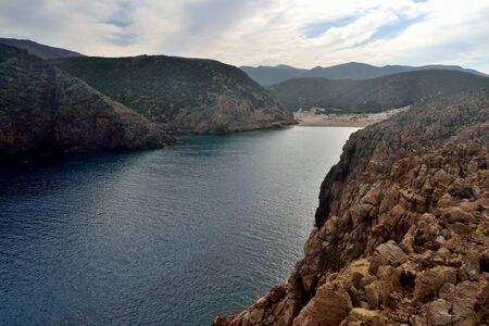 View of Cala Domestica beach 스톡 콘텐츠 - 133166042