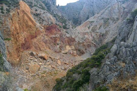 View of Malfidano mine 스톡 콘텐츠