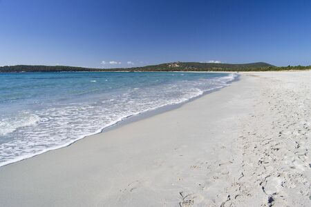 Vue sur la plage de Porto Pino