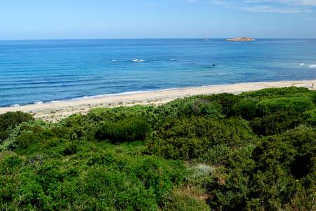View of Li Feruli beach Stockfoto
