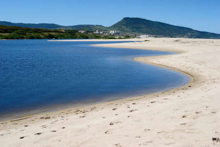 View of the Coghinas river near Pirotti Li Frati beach Stockfoto