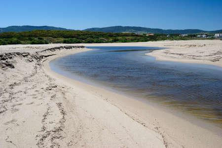 View of the outfall of the Coghinas river near Pirotti Li Frati beach