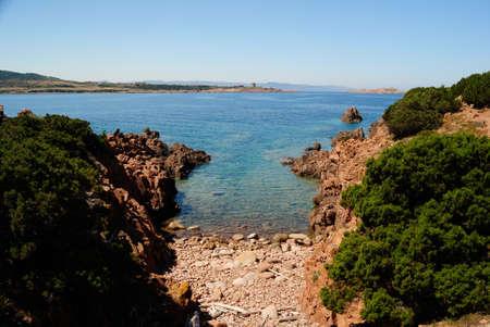 View of little beach near Cala Falza